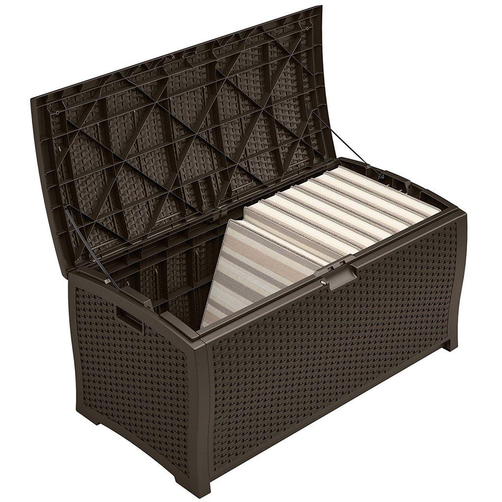 Wicker Deck Storage Bin