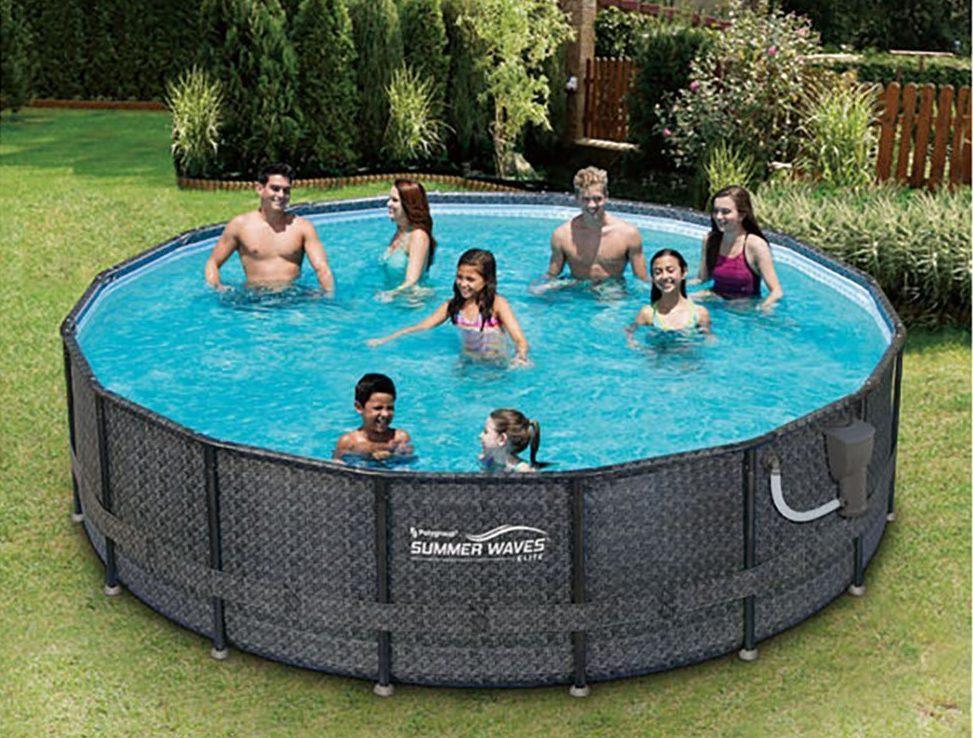 Summer Waves Elite Wicker Print Pool Set Best Above Ground Pools