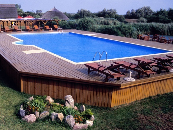 Above Ground Pools with Decks Wooden Benches – Best Above ...