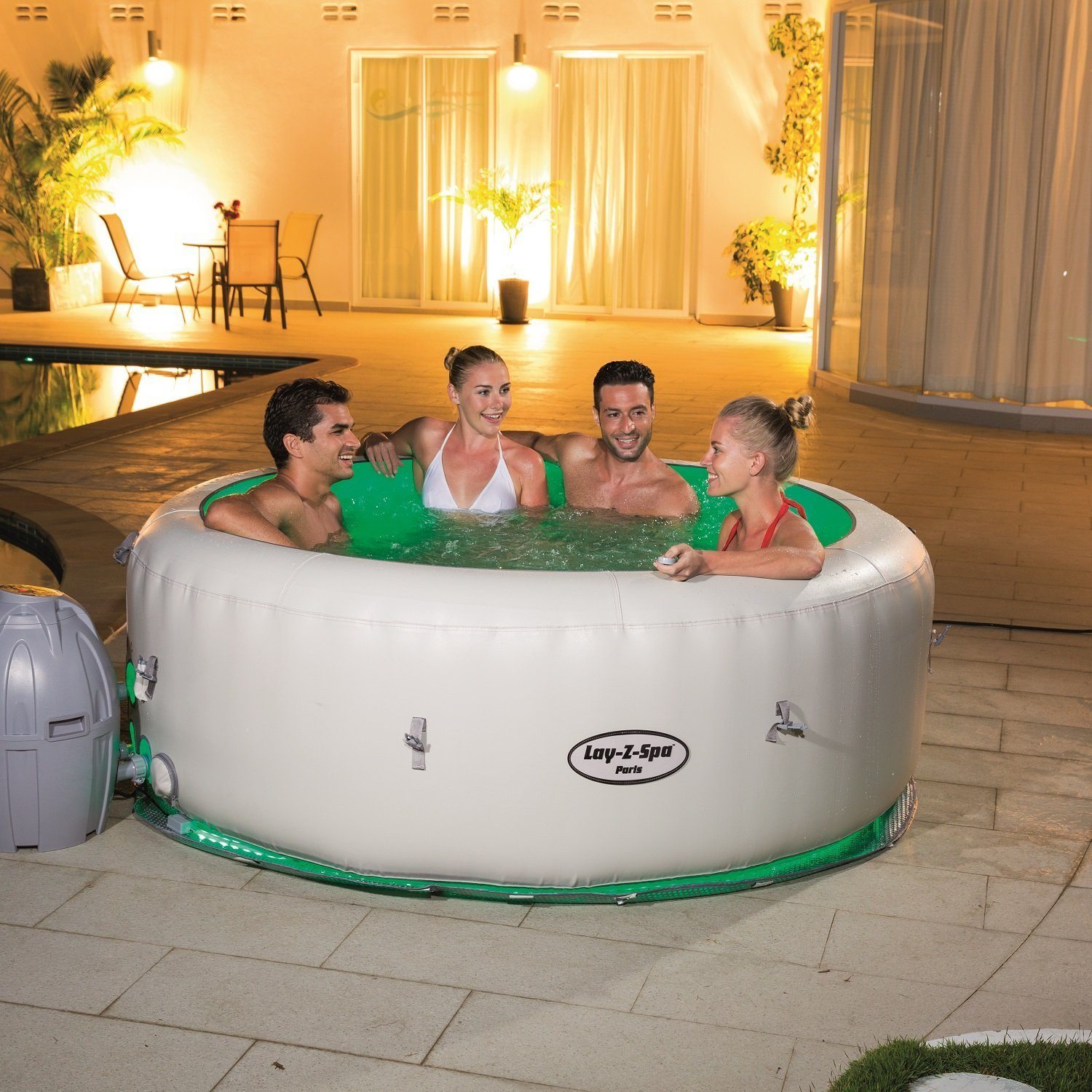 Bestway 6 Person Inflatable Hot Tub Best Above Ground Pools